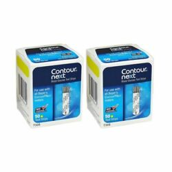 Contour Next Blood Glucose Test Strips 2 BOXES of 50 ct = 100 Strips EXP 1 22 $32.99