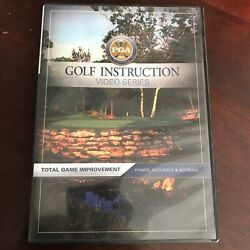 PGA GOLF INSTRUCTION Total Game Improvement: Power Accuracy amp; Scoring DVD $8.50