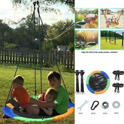 40#x27;#x27; Saucer Tree Swing Flying 660lb Multi Strand Ropes Colorful and Safety Swing $43.27