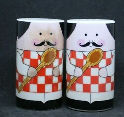 Salt amp; Pepper Shakers Italian Chefs *813 $4.99
