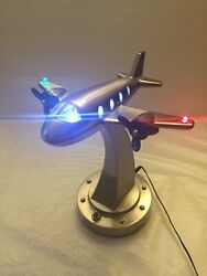 Pottery Barn Kids Flying Airplane Lamp Night Light Vintage Rare $120.00