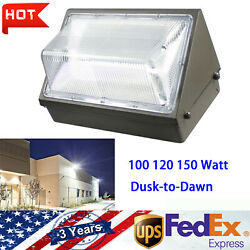 Commercial LED WALL PACK Lights DUSK TO DAWN Outdoor Area Security Lighting IP65