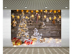 Photographic Backgrounds christmas tree wood floor white wooden background Props $7.99