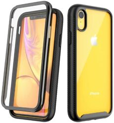 For iPhone 11 Pro Max X XS XR 8 7 Plus Cover Clear Case Screen Protector $8.99