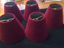 BURGUNDY LAMP SHADES $11.00