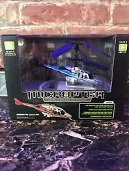 RC Helicopter Propel RC Micropter Wireless Micro Helicopter Blue silver $10.00
