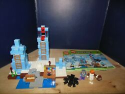 Lego Minecraft Ice Spikes used No Box 100% complete with manuals $79.99