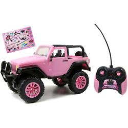Pink Jeep Toy Remote Control Girls Power Vehicle Car Model Kids Gift 1 16 Scale $39.99