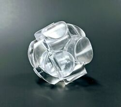 Vintage Charles Perry Lucite Ball Puzzle Sculpture Mid Century Modern decor $145.00