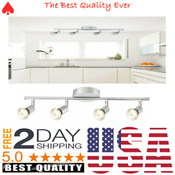 Adjustable Track Lighting Kit 4 Light Dimmable LED Fixtures For Kitchen Ceiling