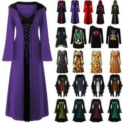 Halloween Women Fancy Dress Medieval Renaissance Gothic Witch Cosplay Dresses $18.04