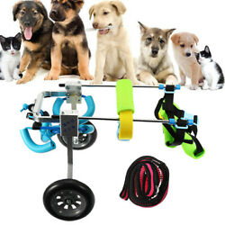 Pet Wheels Dog Cat Wheelchair Cart Scooter Adjustable 2 wheels For Handicapped $102.18