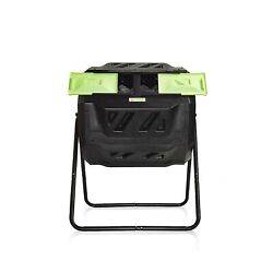 Large Compost Tumbler Bin Outdoor Garden Rotating Dual Compartment Better ... $115.84