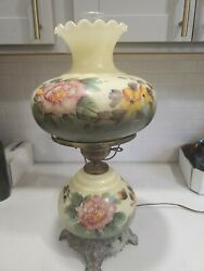 Vintage Hurricane Gone With The Wind Hand Painted Parlor Lamp $120.00