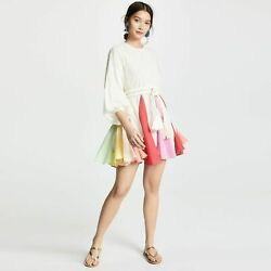 RHODE Resort Ella Dress Rainbow Color Block Small $339.99