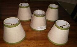 BALLARD DESIGN CHANDELIER SHADES LAMPSHADE Lot Set of 5 CLIP ON NEW $22.00