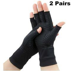 2 Pairs Compression Gloves for Women and Men – Copper Arthritis Gloves for Rheum $11.99