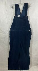 Vintage In Charge Wide Wale Corduroy Bib Overalls Women#x27;s M Navy $65.95