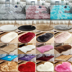 Heart Shaped Fluffy Rug Anti Skid Soft Room Area Carpet Bedroom Floor Modern Mat $9.40