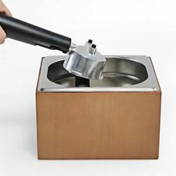Coffee Knock Box Stainless Steel Wood Coffee Grounds Box Barista Residue Bucket $98.12