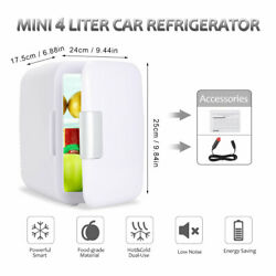 Car 4 Liter 6 Can Power CoolerWarmer Portable Thermoelectric Mini Refrigerator $42.62