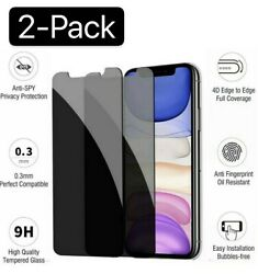 iPhone X XS XR XS Max 11 12 Pro Privacy Anti Spy Tempered Glass Screen Protector $5.99