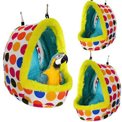 Pet Nest Plush Bird Cave Cage Warm Hanging Sleeping Bed Hut Tent Parrot Hammock $9.99