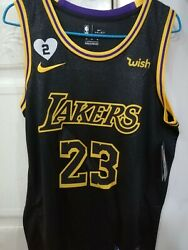 LeBron James NEW Mens Los Angeles Lakers Black Mamba Edition Jersey $49.99