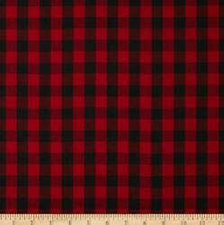 CLEARANCE Kaufman House of Wales Lawn Plaid Red Fabric BY THE YARD $5.99