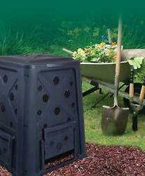 Garden Plastic Compost Bins Easy Assembly Food Waste Scraps Compositor 65 gal $54.83
