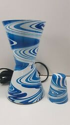 Lava Lamp BLUE SWIRL Vintage Replacement Base and Cap for 17quot; 32oz globes $24.95