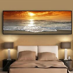 Sea Beach Landscape Posters Prints Canvas Painting Canvas Wall Art Wall Pictures $28.19