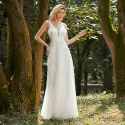 Ever Pretty Lace Embroidered Long Sleeveless Wedding Dresses Formal Evening Gown $54.50