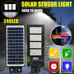 900000LM 150W Commercial Solar LED Street Light IP67 Dust to Dawn Area Road Lamp