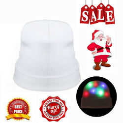 Christmas LED Light Up Knitted Hat Winter Warm Cap Rave Halloween Party Lighted