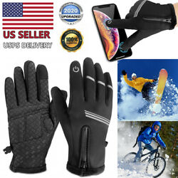 Winter Gloves Men Women Touch Screen Glove Cold Weather Warm Gloves $10.88
