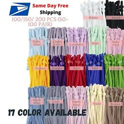 100 200 Pcs 1 4 inch Elastic Cord Band String with Adjustable Buckle for Mask $19.29