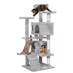 51quot; Cat Tree Tower Condo Pet Furniture Activity Play House with Perches Hammock $55.99