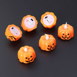 12pcs Halloween Candle Lamp Spider Web and Pumpkin LED Electronic Night Light $12.97