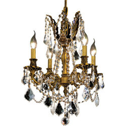 CRYSTAL CHANDELIER FRENCH GOLD PENDANT DINING ROOM KITCHEN ISLAND 4 LIGHTS 21quot; $630.00