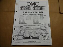 1990 OMC 45 55 HP commercial parts catalog book manual Johnson Evinrude 433755