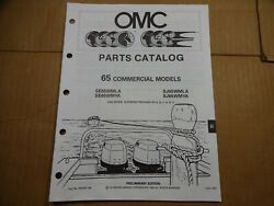 1990 OMC 65 HP commercial parts catalog book manual Johnson Evinrude 433758