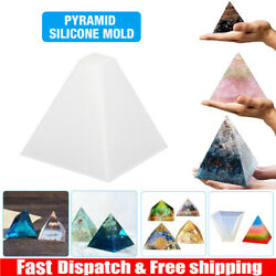 Pyramid Silicone Mold Resin Jewelry Making Mould Epoxy Pendant Craft DIY Tool US $4.99