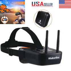 5.8Ghz Mini FPV Goggles 40CH 3quot; FPV Video Headset Glasses Double RP SMA Antenna $50.34