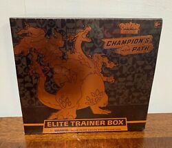 🔥💥Pokemon TCG Champion#x27;s Path Elite Trainer Box Sealed 10 Booster Packs $79.99