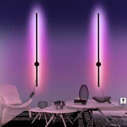 RGB Minimalist long strip LED wall lamps Modern living room bedroom bedside $136.95