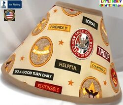 BOY SCOUTS LAMP SHADE Clip On $65.95 LAST ONE $65.95