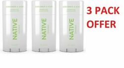 NATIVE DEODORANT Cucumber amp; Mint FOR MENquot;PACK OF 3quot; $18.50