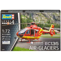 Revell EC135 Air Glaciers Plastic Model Helicopter Kit 1:72 Scale $10.43