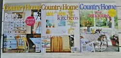Country Home February April August September October 1999 Lot of 5 $7.50